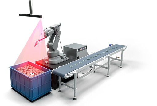 Training: Robot Bin-pick application with 3D scanner and real robot