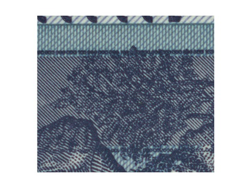 Figure 4: Detail on banknote recorded using 1/3 pixel shifting