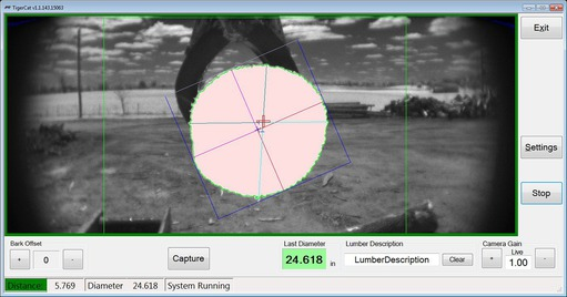 Case study Pike Lumber: Machine vision software measures amount of raw lumber