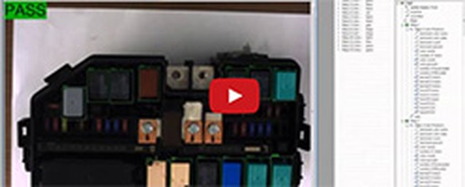 Video: Car relay and fuse box inspection with machine vision