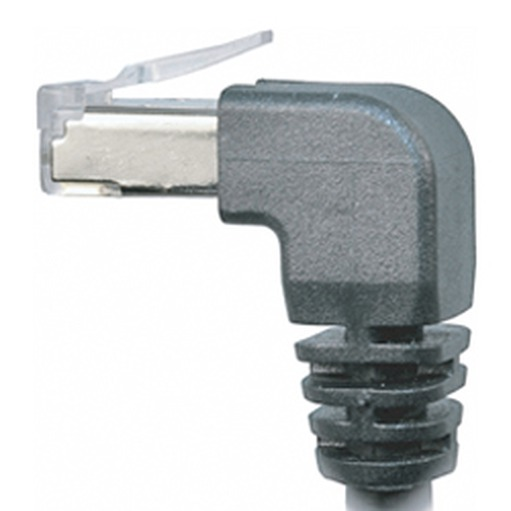 CEI 5, 90° angle RJ45 with clips, 16 mm Connector depth