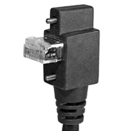 cei 6, 90� angle rj45 with screws, 15 mm connector depth