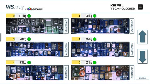 Application report: High-bay towers at Kiefel GmbH - User interface