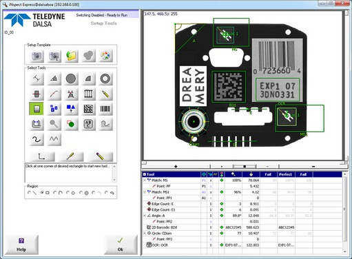 New vision application software: DALSA iNspect 1950