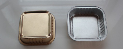 Application story: Leuthold Mechanik AG - inspection of aluminium containers - Aluminium cat food trays