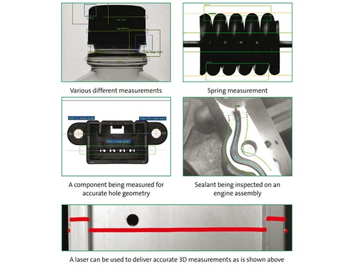 Glossary: Examples for dimensional measurement by vision systems